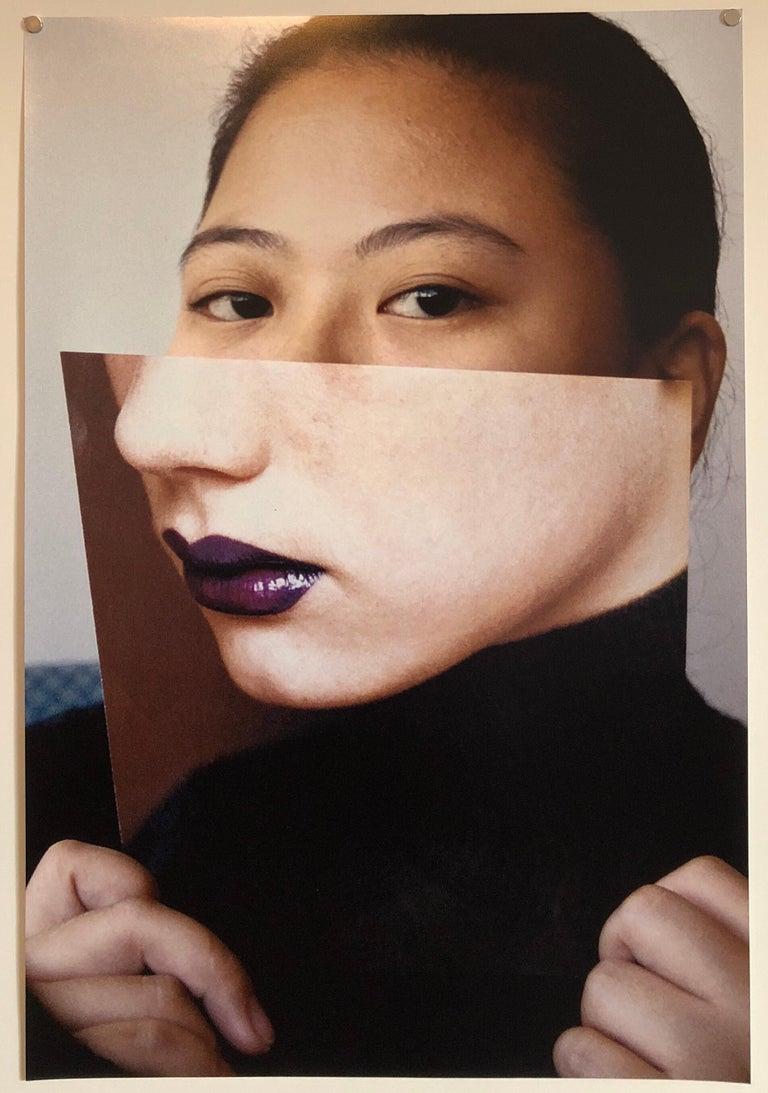 Faces, Vintage Color Photograph Digital Photo Collage Print Asian American For Sale 2