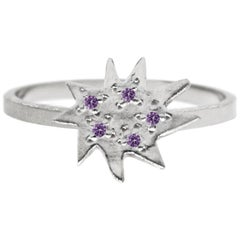Emily Kuvin Amethyst and Silver Ring