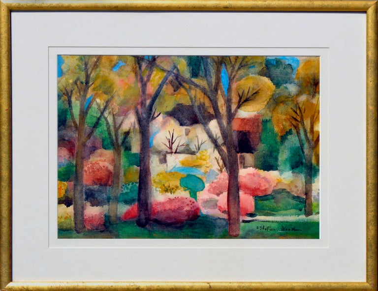 Emily Shotwell Goeller-Wood Landscape Painting - Fall Leaves