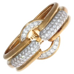 Emis Diamond 18 Karat Gold Platinum Bangle