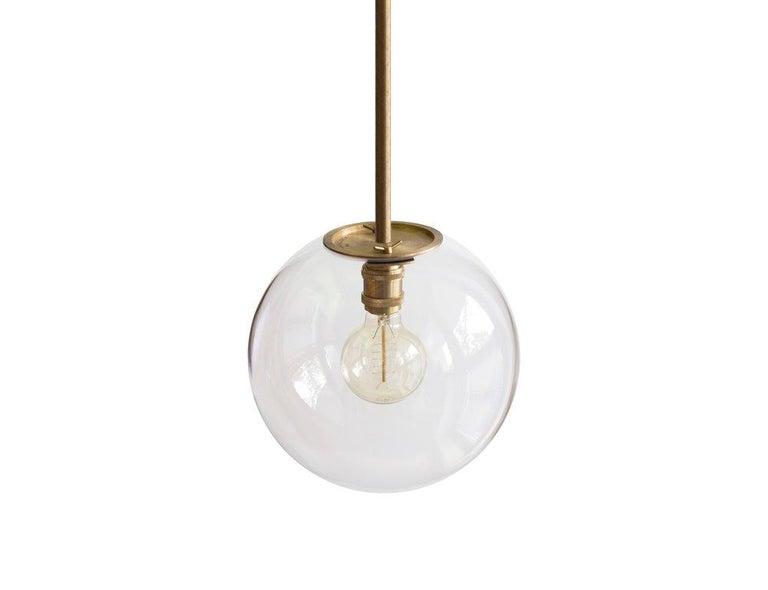 German Emiter Brass Hanging Lamp, Jan Garncarek For Sale