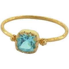 Emma Chapman Apatite 18 Karat Yellow Gold Stacking Ring