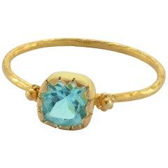 Emma Chapman Apatite 18 Karat Yellow Gold Band Ring