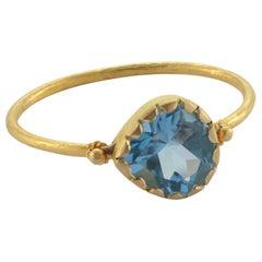 Emma Chapman Aquamarine 18 Karat Gold Stacking Ring