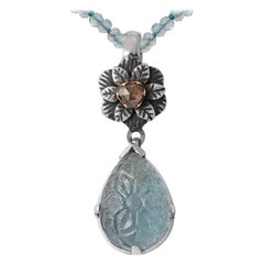 Emma Chapman Aquamarine Diamond Pendant