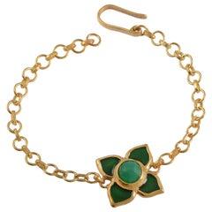 Emma Chapman Chrysoprase Green Enamel Bracelet