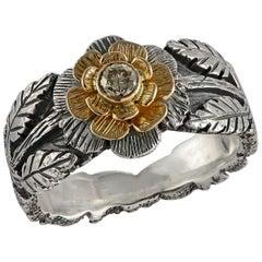 Emma Chapman Diamond 18 Karat Yellow Gold Silver Ring