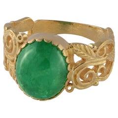 Emma Chapman Emerald 18k Gold Ring