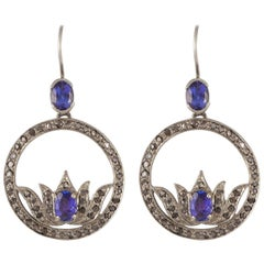 Emma Chapman Iolite Diamond Silver Earrings