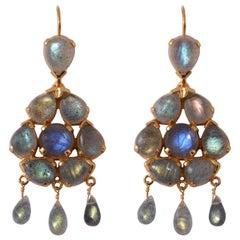 Emma Chapman Labradorite Chandelier Earrings