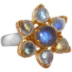 Emma Chapman Labradorite Gold Plate Ring