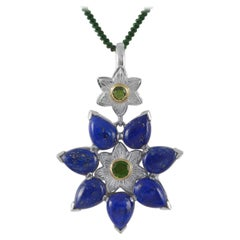 Emma Chapman Lapis Lazuli Statement Silver Pendant