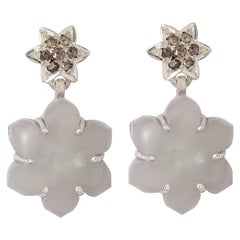 Emma Chapman Moonstone Diamond Silver Earrings