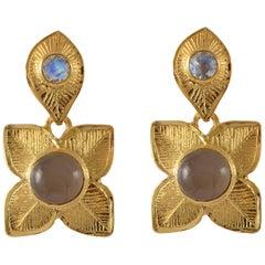 Emma Chapman Moonstone Gold Plate Earrings