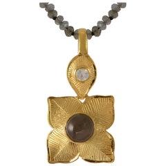 Emma Chapman Moonstone Gold Plate Pendant