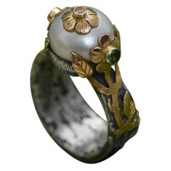 Emma Chapman Pearl Diamond Ring
