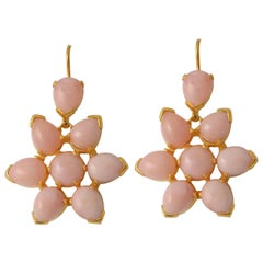 Emma Chapman Pink Opal Gold Plate Drop Earrings