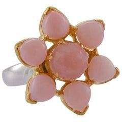 Emma Chapman Pink Opal Gold Plate Statement Ring