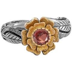 Emma Chapman Pink Sapphire 18 Karat Yellow Gold Silver Ring