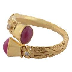 Emma Chapman Ruby Diamond 18 Karat Gold Ring