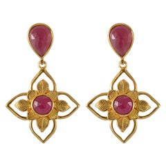 Emma Chapman Ruby Gold Plate Earrings
