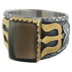 Emma Chapman Smokey Topaz 18k Gold Silver Ring