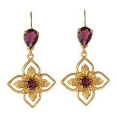 Emma Chapman Tourmaline Gold Plate Earrings