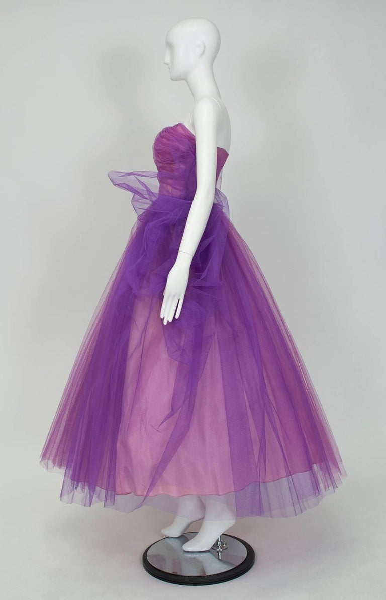 Emma Domb Violet Ombr 233 Strapless Ball Gown 1950s At 1stdibs