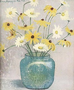 White & Yellow Daisies in Loetz Vase