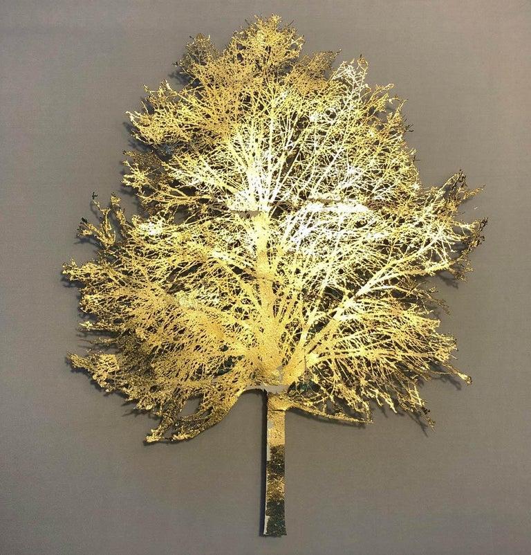 Light Tree - lasercut paper silk mixed media framed  - Mixed Media Art by Emma Levine
