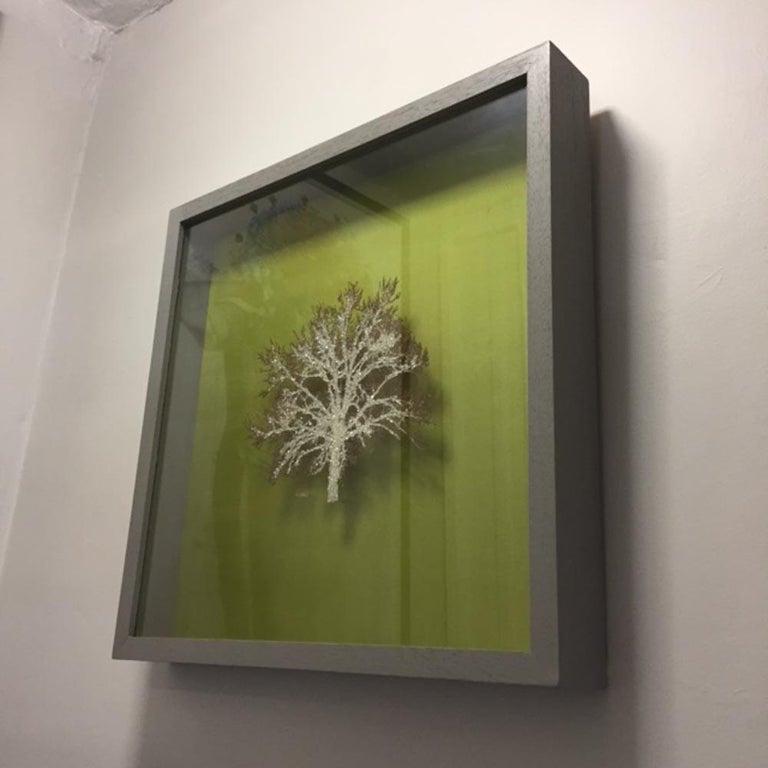 Moss Tree, Crystal Glitter Oak Tree, laser cut relief wall art  For Sale 2