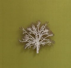 Moss Tree, Crystal Glitter Oak Tree, laser cut relief wall art