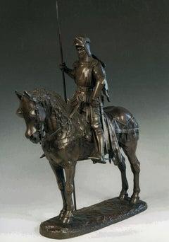 Louis d'Orléans  - Original Bronze Sculpture by Emmanuel Frémiet - 1870 ca