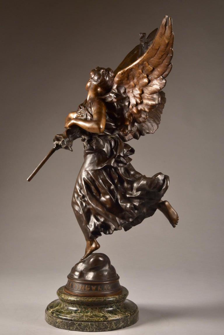 Very impressive /large ( 97cm) statue, E. Hannaux (1885-1934), 'Love of the Flag For Sale 12