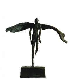 Flight of Fancy -  Emmanuel Okoro Bronze Resin sculpture of man with wings/angel