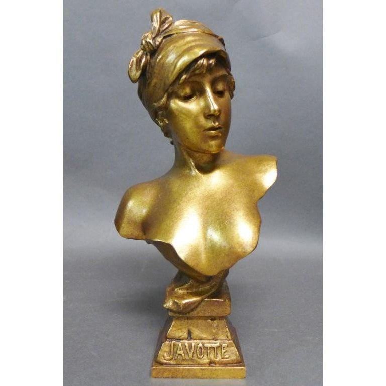 Doré Bronze Bust by Emmanuel Villanis. French (1858-1914)