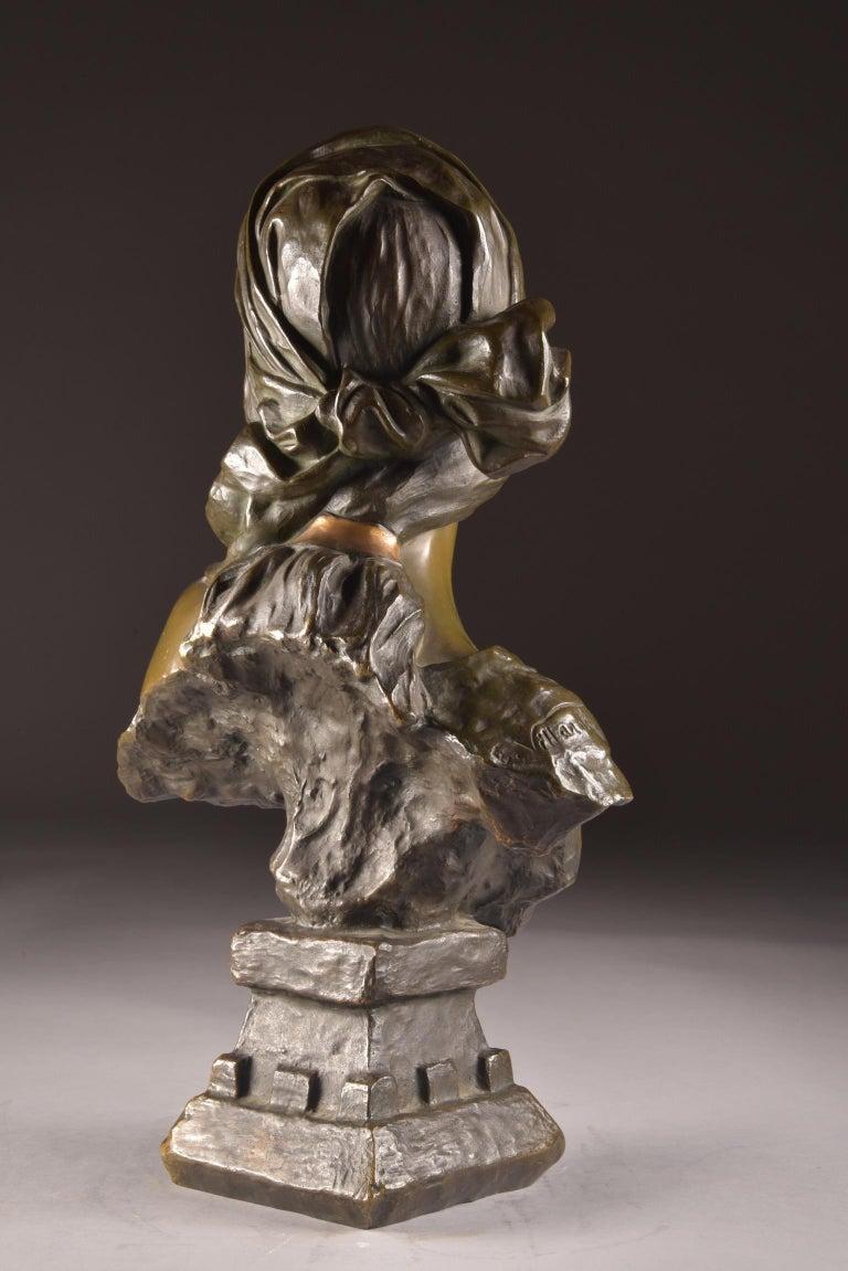 Emmanuel Villanis 'French', Large Female Bust, Signed For Sale 2
