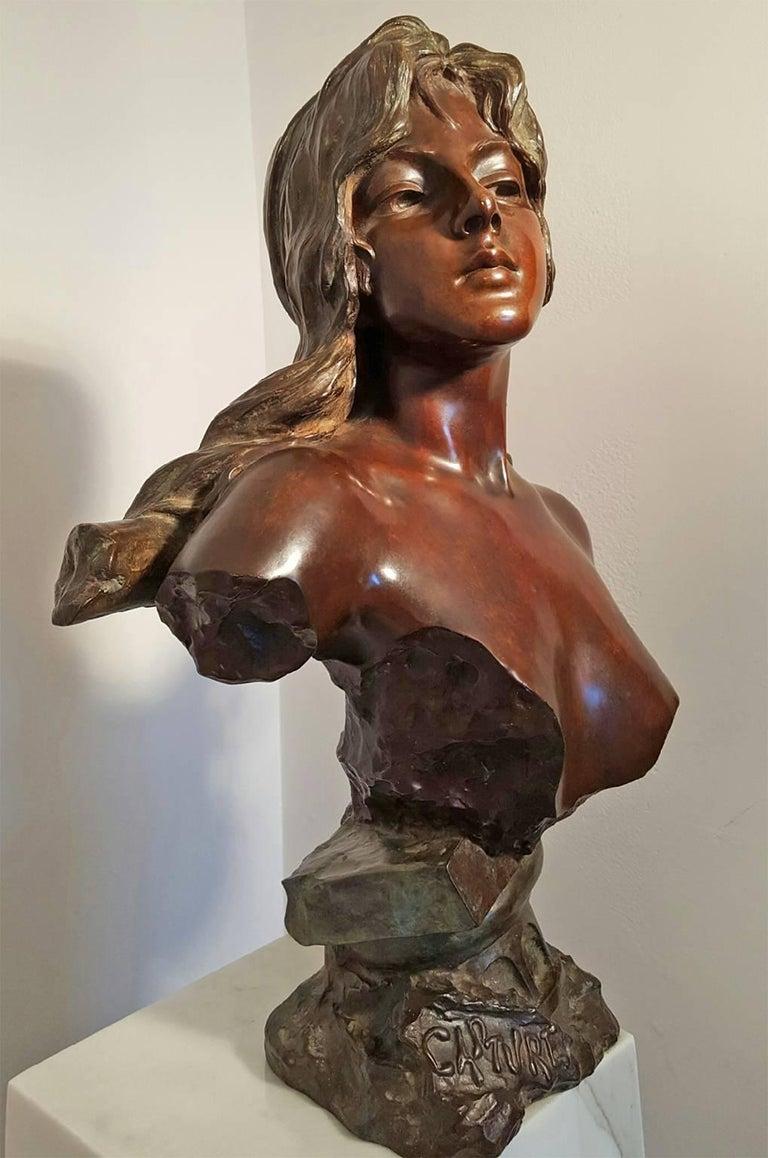 Capture - Slave Girl Bronze - Sculpture by Emmanuel Villanis