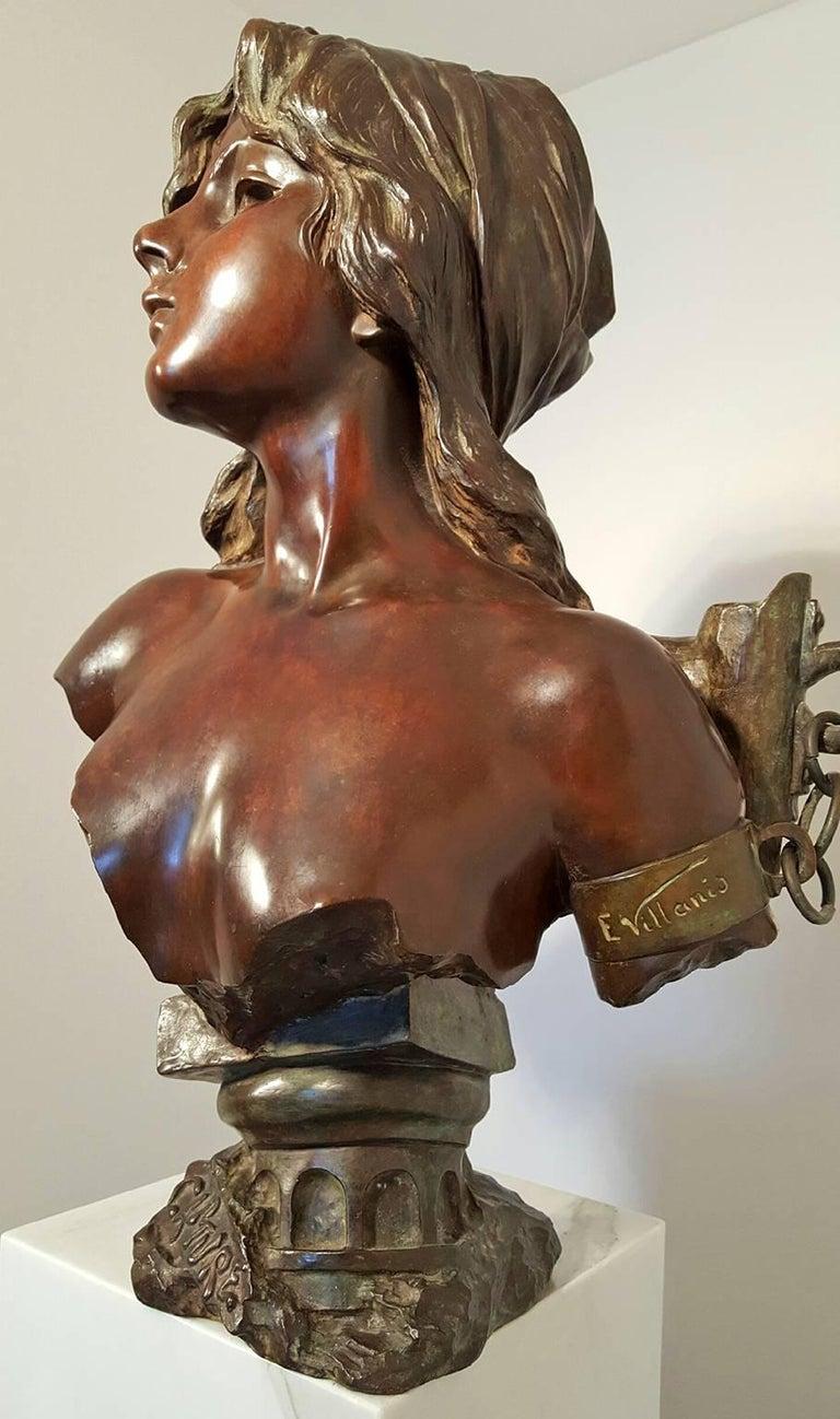 Emmanuel Villanis Figurative Sculpture - Capture - Slave Girl Bronze