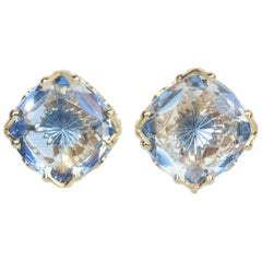 Emmons Blue Crystal Earrings C.1960