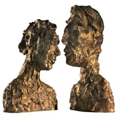 21st Century Brass Modern Contemporary Sculpture, Raw Bronze by Margit Wittig