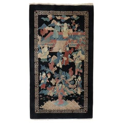 Emperor Empress Chinese Scatter Size 20th Century Rug