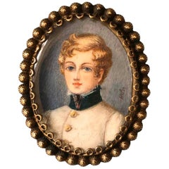 Emperor Francis Joseph I, Fine Miniature Porcelain Portrait Signed, Austria 1822