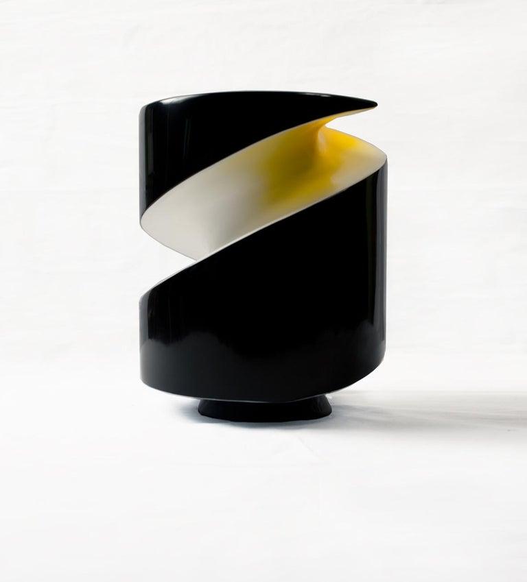 Modern Emperor Penguin Lacquered Ceramic Sculpture by Golem For Sale