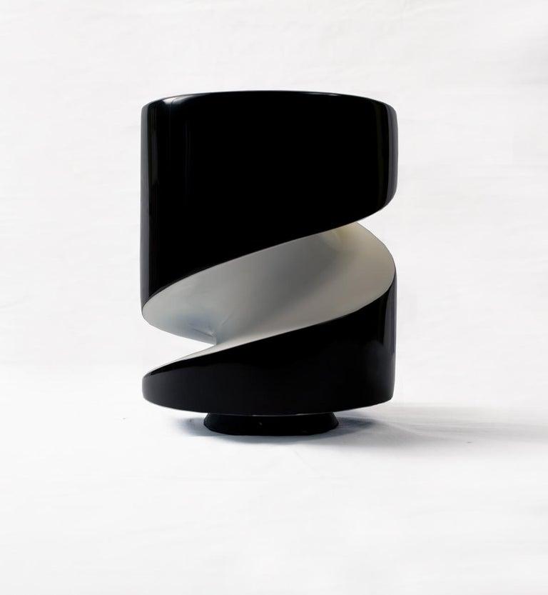 Italian Emperor Penguin Lacquered Ceramic Sculpture by Golem For Sale