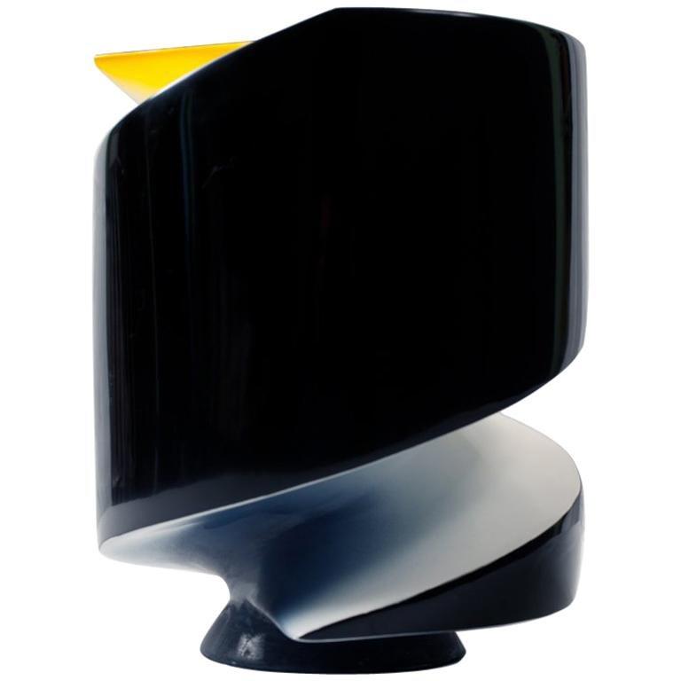 Emperor Penguin Lacquered Ceramic Sculpture by Golem For Sale