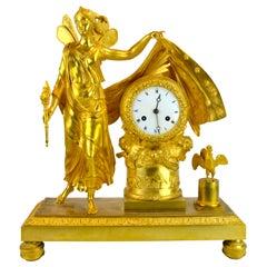 Empire Allegorical Clock of the Roman Goddess Aurora Announcing a New Day
