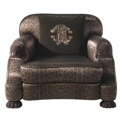 Empire Armchair in Fabric by Roberto Cavalli