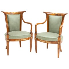 Empire Armchairs, Italy, Early 19th Century