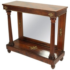 Empire Bronze-Mounted Rosewood Console Table